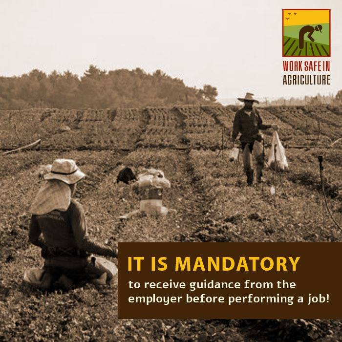 It is mandatory to receive guidance from the employer before performing a job!