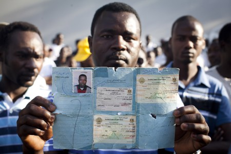 African refugees protest for human rights, Tel Aviv, Israel, 10.6.2012
