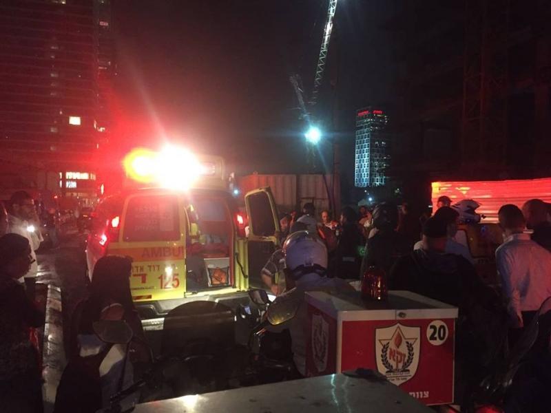 """פצוע אנוש בתאונת עבודה שנייה באתר """"מגדל הכשרת היישוב"""" בבני ברק"""