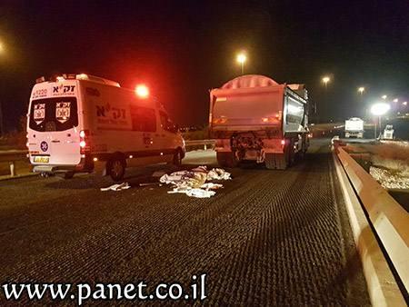 ההרוג ה-24 מתחילת השנה – עובד נדרס למוות במסגרת עבודות תחזוקה של כביש 6